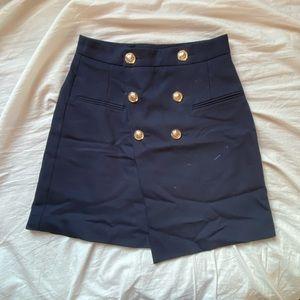 Navy blazer skirt from Zara
